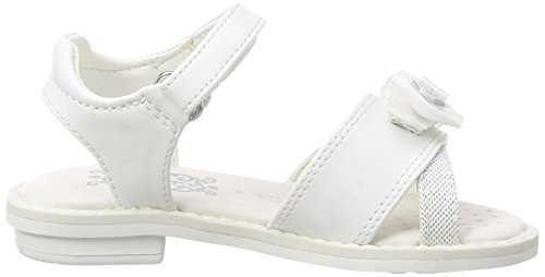 Geox JR SANDAL GIGLIO B, Sandales ouvertes fille Weiß (OFF WHITEC1002)