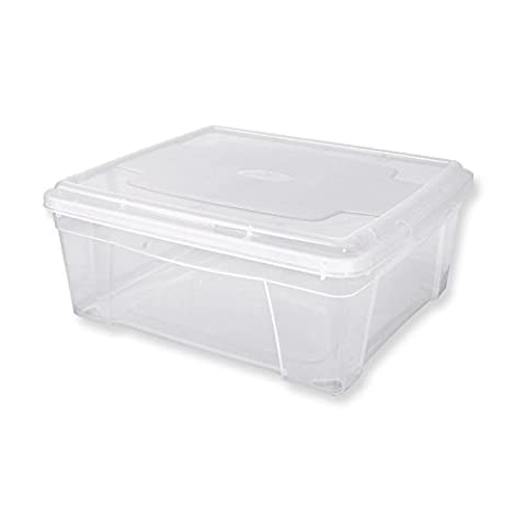 Mondex PLS611-00 Boîte de Rangement avec Couvercle pour Vêtements Plastique Transparent 20 x 17,5 x 9 cm 1,9 L
