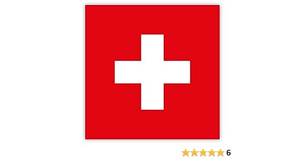 10 X Aufkleber Schweiz Flagge 5 2 X 5 2 Cm Für Innen Und Außen Auto