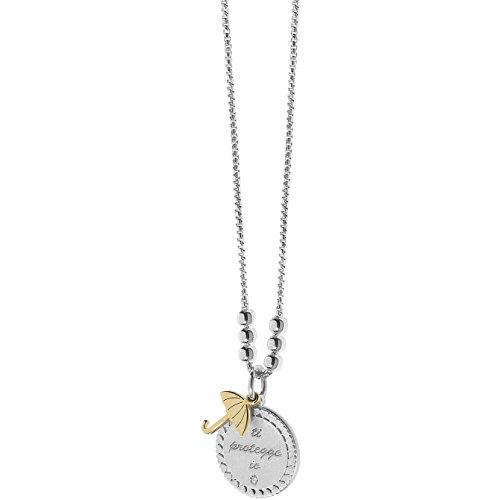 Collana donna gioielli comete love tag elegante cod. gla 146