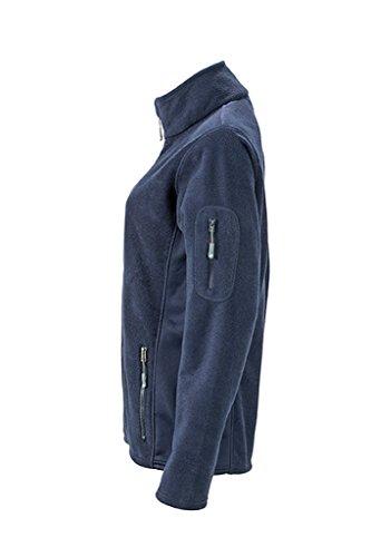 JAMES & NICHOLSON Femme Veste polaire durable en tissu mixte marine/marine