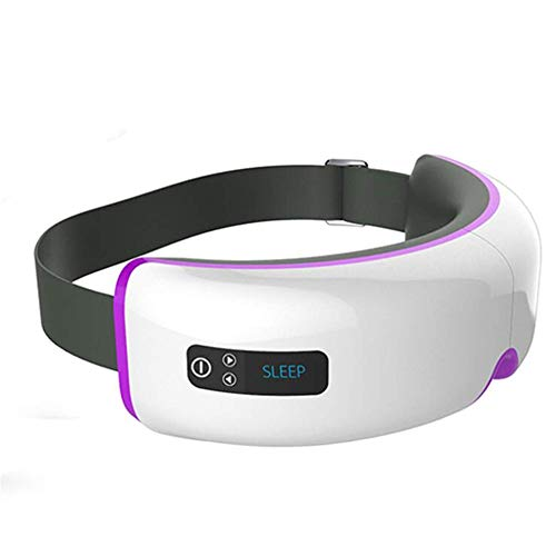 WYQWAN Augenmassagegerät, Student Eye Care, Einstellbare Druckentlastungsbrille, Magnet-Vibrations-Akupressur-Massagegerät