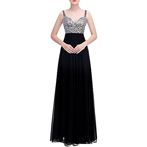 AZBRO Mujer Prom Vestido de Fiesta Espagueti sin Respaldo