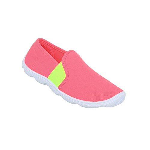 Damen Schuhe Halbschuhe Slipper Coral