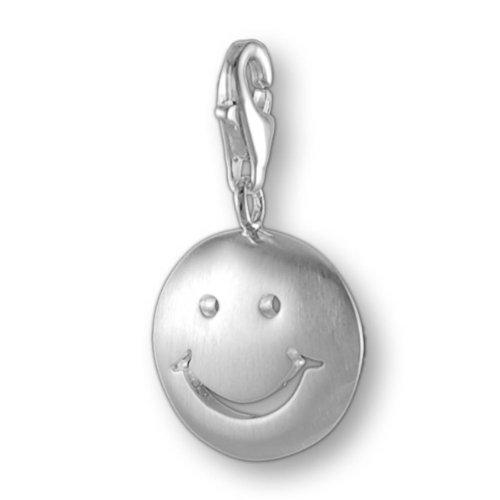 Melina Damen-Charm Anhänger Smilie 925 Sterling Silber 1800760