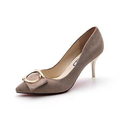 RTRY Donna Comfort Tacchi Caduta Abito Scamosciato Stiletto Heel Beige Nero 2A-2 3/4In US6.5-7 / EU37 / UK4.5-5 / CN37