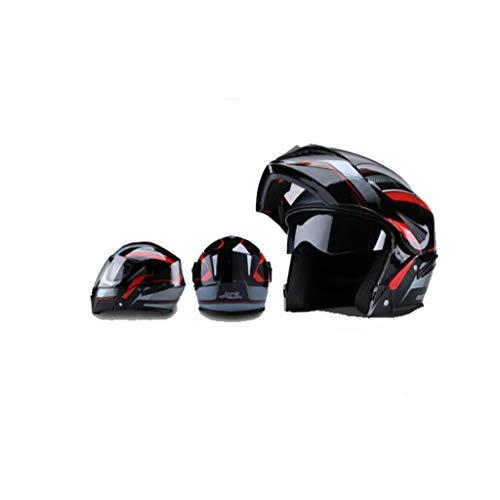 Preisvergleich Produktbild Helm Motorrad,  männer - elektrischen lokomotiven,  Weibliche Anti - Fog,  Four Seasons,  Doppel - Spiegel