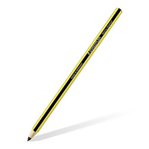 Staedtler Stylus Noris 180 22-1 digital Sechskantform, EMR-Technologie, attraktives Noris Streifen-Design gelb-schwarz, ergonomische Soft-Oberfläche, feine 0.7 mm Spitze