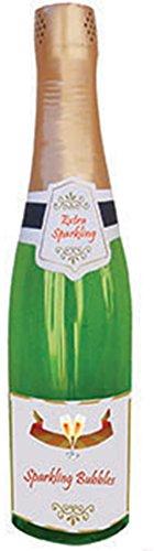 Confettery - Silvester Party Dekoration Deko- aufblasbare Sekt Flasche Champagner, 76 cm, Grün