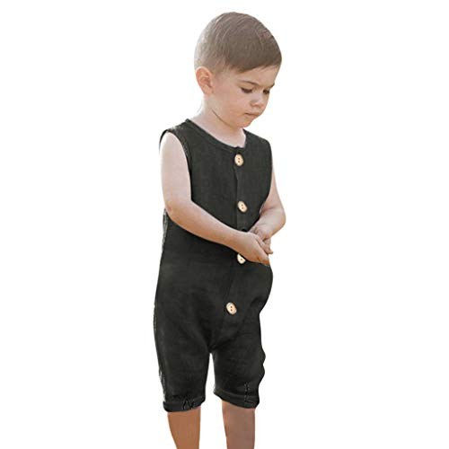 Overall Baby Sommer Summer Infant Boys&Sleeveless Ruffles Solid Romper Jumpsuit Clothes Summer Infant Süß