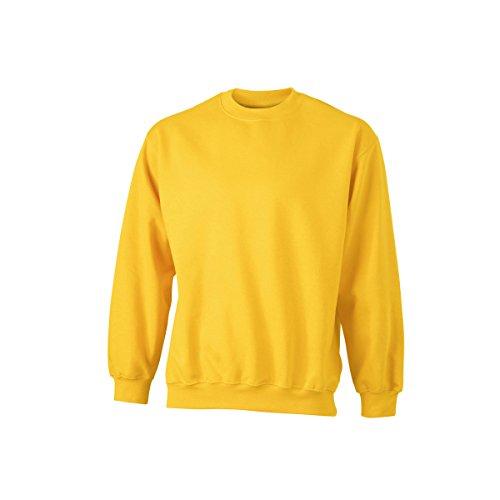James & Nicholson-Felpa Pesante-Uni-jn040-Uomo jaune d'or