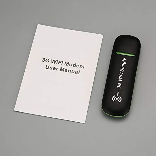 Elviray 3G Mobil WLAN Hotspot Auto USB Modem Universal Breitband Mini WLAN Router Mifi Dongle mit SIM Karten Slot (Breitband-modem Wlan -)