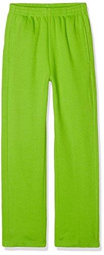 URBAN KIDS Jungen Sporthose Kids Sweatpants, Grün (Limegreen 146), 164 (Herstellergröße: 14) (Erwachsene Sweatpant)