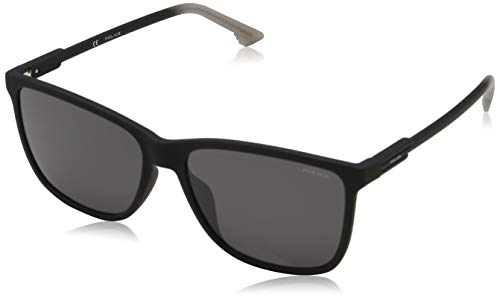 Police Herren Wave 1 Sonnenbrille, Schwarz (Rubberized Black/Grey), 57.0