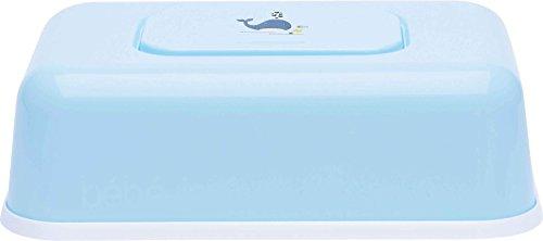 bébé-jou 6230102 Feuchttücherbox Wally Whale, blau