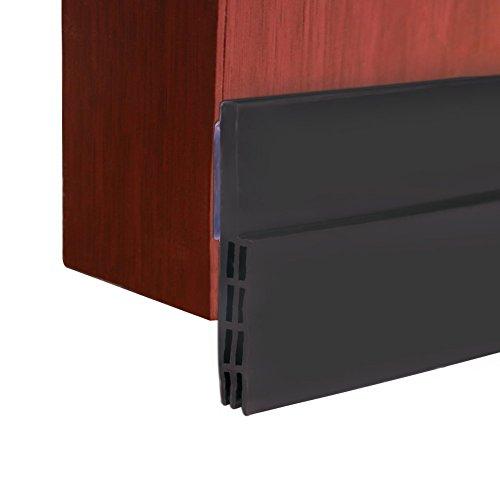 ccmart bajo puerta barrido Weather adhesiva para desmontar de proyecto de puerta, puerta parte inferior de sellado para Bugs prueba insonorización y ahorro de energía, 5cm de ancho x 100cm de longitud, negro