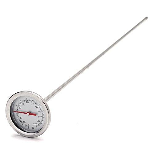 SGerste 0°C-120°C 50cm Länge Premium Edelstahl Kompost Erde Thermometer Erde Monitor (Edelstahl-kompost-thermometer)