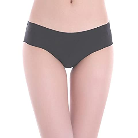 String, Kolylong® Femmes Invisible Thong Underwear Coton Spandex Gaz Seamless Entrejambe (L, Noir)
