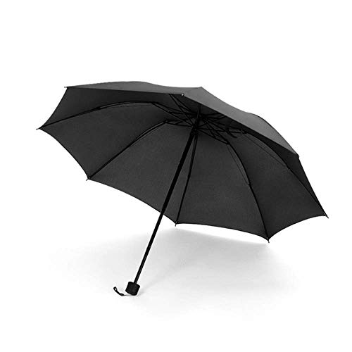 ding Fully Automatic Umbrella for Men and Women Vehicles Simple Rain and Sunshine Students Reinforcing Wind-Proof Triple fold, Classic Black - (Manual Reverse Umbrella) ()