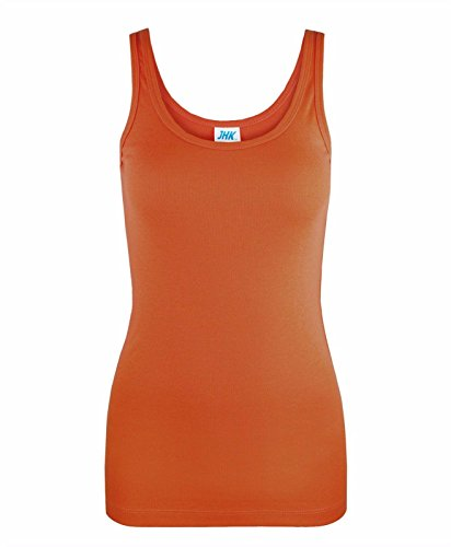 JHK Ladies Summer 100% Cotton Vest Slim Fit Plain T-Shirt Women's Tank Tops