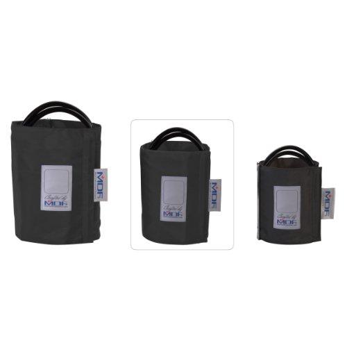 MDF® Latexfreie Blutdruckmanschette - Große Erwachsene- Zweischlauch - D-Ring Schwarz (MDF2080460D-11) - Blutdruckmanschette Erwachsene