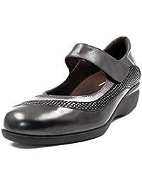 Boulevard - Zapatos estilo merceditas con cierre de velcro para mujer / se?ora, color negro, talla 40
