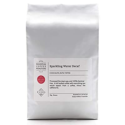 1kg Decaf Coffee - 100% Arabica - Chemical Free Sparkling Water Decaffeinated - Freshly Roasted Whole Bean Coffee Beans - Espresso Roast - Roasted in Yorkshire from Rounton Coffee