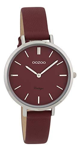 Fashion Oozoo Vintage Damenuhr 34 MM mit schmalem Lederband