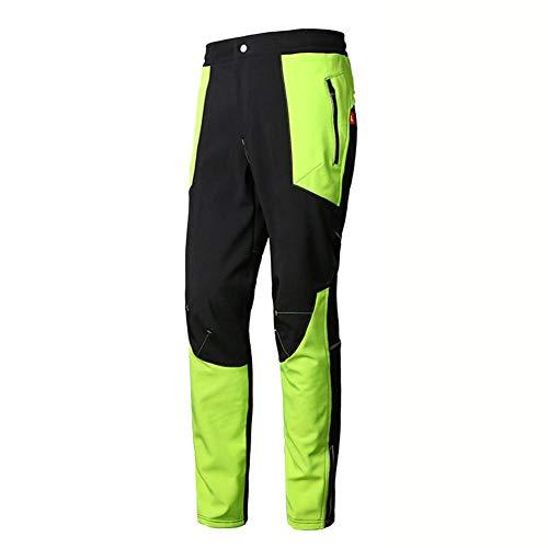 heling896 Pantaloni da Montagna da Uomo All'aperto, Pantaloni Impermeabili in Pile Pantaloni da Alpinismo da Sci Invernali in Morbida Pelle di Velluto Invernale Antivento