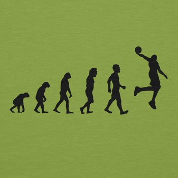 NERDO Basketball Evolution - Damen T-Shirt Kiwi