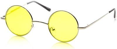 zeroUV-pequeño de metal redondo círculo Ozzy Elton John Lennon tintado), color estilo gafas de sol
