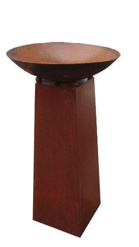 Edelrost,Gartendeko,Pflanzenschale Feuerschale 50cm mit Konus-Ständer H80cm