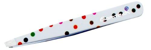Glamtech Pince à épiler à pointes inclinées Motif pois