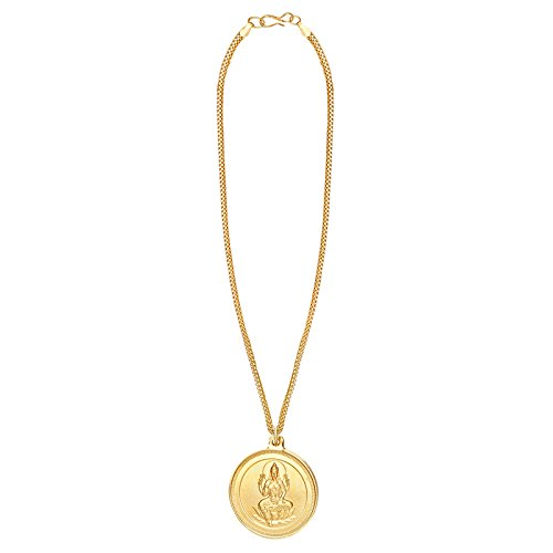 24K Gold plated Lakshmi Coin Chain Pendant (SJ_216203)  available at amazon for Rs.177