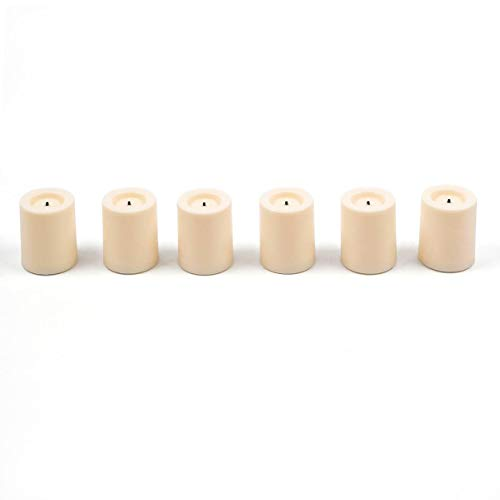 ,4cm Wachs verdeckt Votiv Kerzen/Teelichter creme (6Pack) ()
