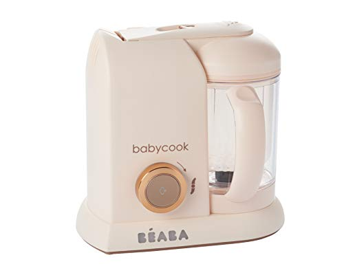 BEABA Babycook Solo 4 in 1 Steam Cooker and Blender, Pink/Rose
