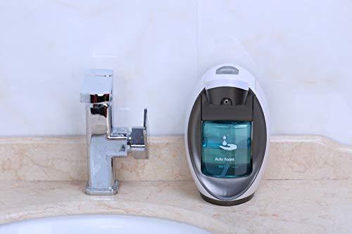 SLOUD Seifenspender Wandmontage Durchsichtig Touchless Seifenspender WiederbefüLlbar Countertop Wasserdicht FüR Hotel Schlafzimmer Badezimmer Küche-D