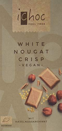 Vivani White Nougat Crisp-Rice Choc, 5er Pack (5 x 80 g) - Milch-schokolade