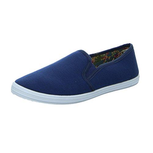 Sneakers Ij613-06 Senhoras Roupas De Chinelo / Velcro Azul Halbschuh (azul)