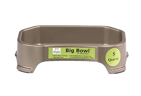 Neater Pet Brands 5-Quarts Bowl for Pets, Champagne