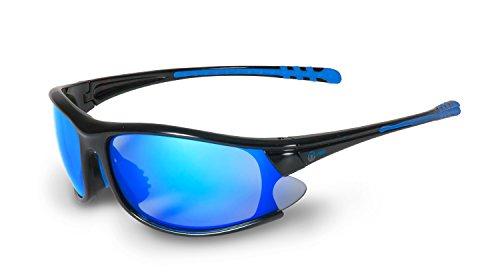 Nexi Sportbrille Sonnenbrille mit Revo-Beschichtung S-9B, schwarz/blau