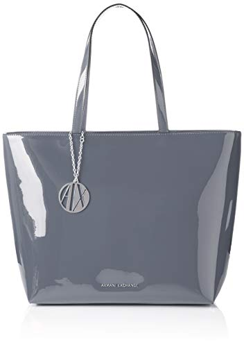 c2f8641d16 Armani Exchange Womans Shopping, Women's Tote, Grey, 29x12x43 cm (B x H T