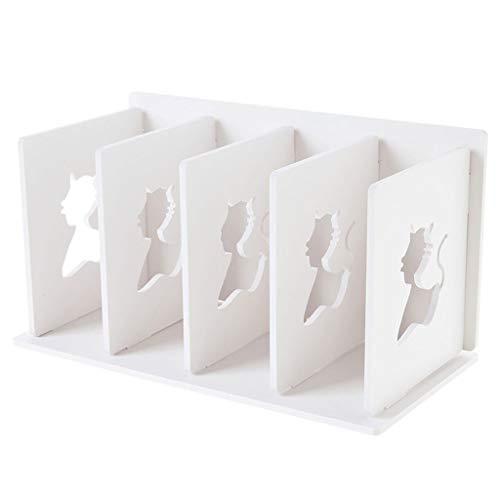 YANGFH Multi-Layer-Aktenregal Desktop Shelf Floor Storage Rack Weiß 30,5x16x17 cm Bücherregal