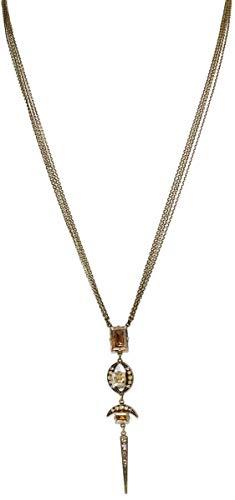 Konplott Halskette Art Deco Oriental lang Brass beige