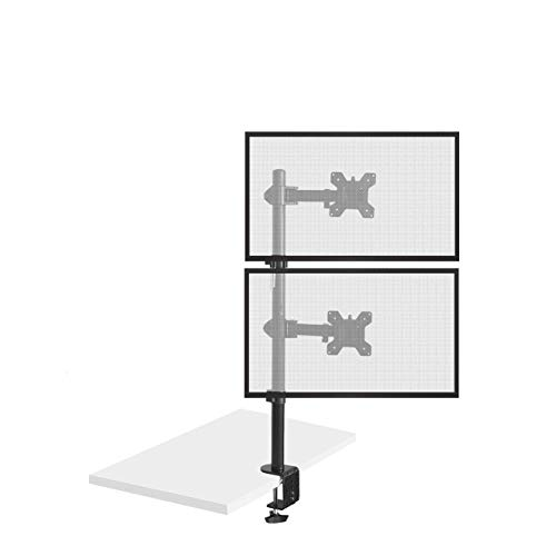 Bramley Power Single Dual Twin Quad Monitor Monitor Tischhalterung Arm Doppel-VESA-Halterung für 33 cm bis 76 cm (13 bis 30 Zoll) Computer-Display oder Fernseher (max. Neigung, Drehen und Drehgelenk) (Dual-display-arm)