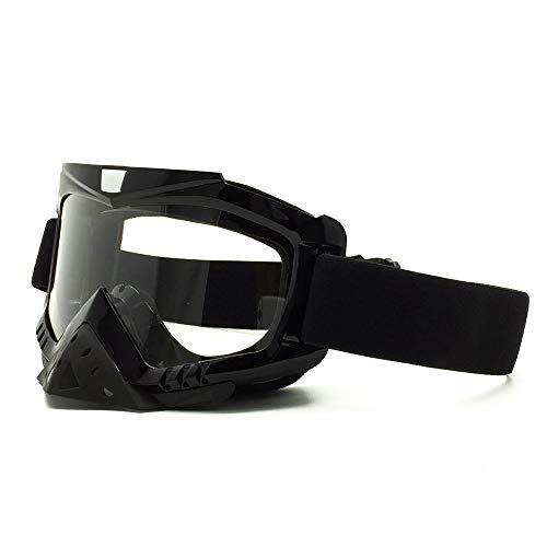 Yiph-Sunglass Sonnenbrillen Mode Skibrillen Motorradbrillen mit Maske Airsoft Schutzbrillen Maske für das Fahren von Jagdfischen Schießen (Color : 2, Size : One Size)