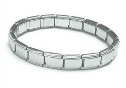 Edelstahl glänzend 18Glieder Gliederarmband Italien Charms Basis-Armband für Nomination ()