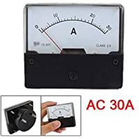 SODIAL (R) AC 30A rettangolare Pannello Meter analogico Amperometro YS-670