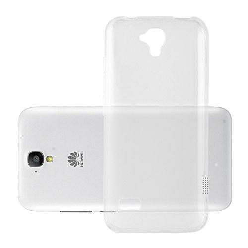 Preisvergleich Produktbild Cadorabo Hülle für Huawei Y5 2015 / Y5C / Y541 / Y540 / Y520 - Hülle in VOLL TRANSPARENT – Handyhülle aus TPU Silikon im Ultra Slim 'AIR' Design - Silikonhülle Schutzhülle Soft Back Cover Case Bumper