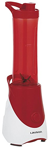 Lauson Batidora Portátil de Vaso extraíble, Mini Mixer para smoothies, Licuadora de 600ml, 300W (Disponible en 3 colores), Color Rojo